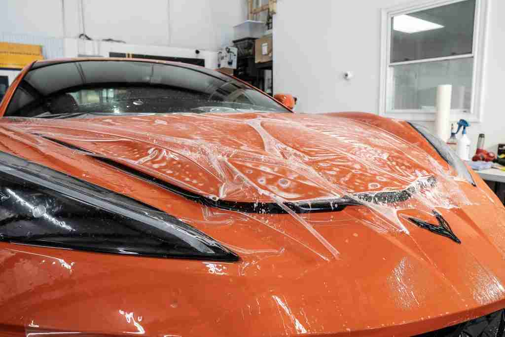 paint protection film can protect the front of your vehicle from rock damage