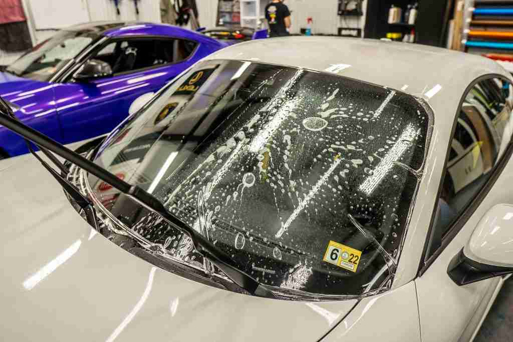 Windshield protection film goes on clear and provides a suit of armor for your windshield